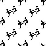 Kick icon. Element of Fight icons for mobile concept and web apps. Pattern repeat seamless kick icon can be used for web and mobil. E apps on white background Stock Images