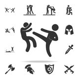 Kick icon. Set of Cfight and sparring element icons. Premium quality graphic design. Signs and symbols collection icon for website. S, web design, mobile app on Royalty Free Stock Photo