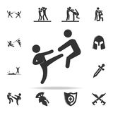 Kick icon. Set of Cfight and sparring element icons. Premium quality graphic design. Signs and symbols collection icon for website. S, web design, mobile app on Royalty Free Stock Image