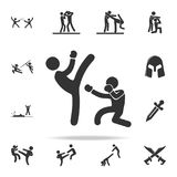 Kick icon. Set of Cfight and sparring element icons. Premium quality graphic design. Signs and symbols collection icon for website. S, web design, mobile app on Royalty Free Stock Images