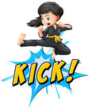 Kick logo Royalty Free Stock Photo