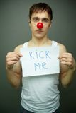 Kick me Royalty Free Stock Photo