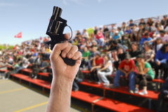 Kick off. Starting in competition shooting sports Stock Photography