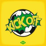 Kick off football match Stock Photography