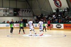 Futsal kick off. The kick off of the italian professional futsal match feldi eboli vs acqua & sapone Royalty Free Stock Photos