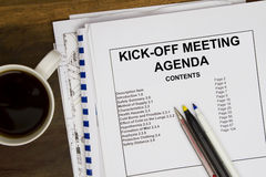 Kick off meeting Royalty Free Stock Image