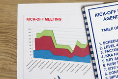 Kick-off meeting. Concept- many uses in the oil and gas sector Royalty Free Stock Images