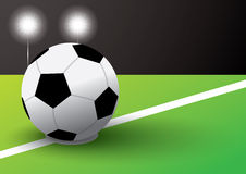 Kick off. Soccer on green field Royalty Free Stock Photography