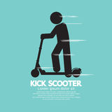 Kick Scooter Black Symbol Royalty Free Stock Photo