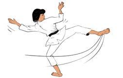 Kick Single. Karate Kick Single for illustration works Stock Photo