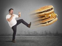 Kick  to calories Royalty Free Stock Images