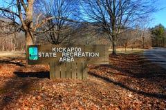 Kickapoo tillståndsrekreationsområde Illinois Fotografering för Bildbyråer