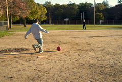 Kickball Royalty Free Stock Photo