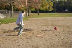 Kickball Game Stock Photo