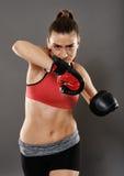 Kickbox damy łokcia uderzenie Obraz Stock