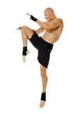 Kickbox fighter full length Royalty Free Stock Photography