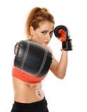 Kickbox fighter girl Stock Images