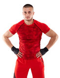 Kickbox fighter isolated Royalty Free Stock Images