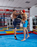 Kickbox fighters in the ring Stock Photography