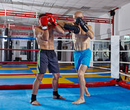 Kickbox fighters in the ring Stock Photo