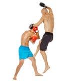 Kickbox-Kämpferauseinandersetzung Lizenzfreies Stockbild