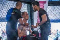 Kickboxen-Wettbewerb Lizenzfreie Stockfotografie