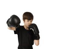 Kickboxer del muchacho Imagen de archivo libre de regalías