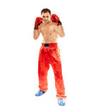 Kickboxer in guard stance Stock Photos
