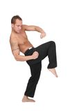 Kickboxer man Royalty Free Stock Photo