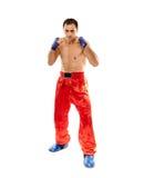 Kickboxer na posição do protetor Fotos de Stock Royalty Free
