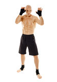 Kickboxer na posição do protetor Fotografia de Stock Royalty Free