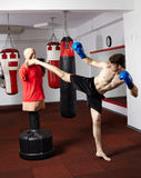 Kickboxer training in the gym Royalty Free Stock Photography