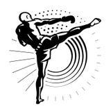 Kickboxer. Royalty Free Stock Photo