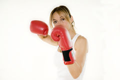 Kickboxer woman training Royalty Free Stock Photo