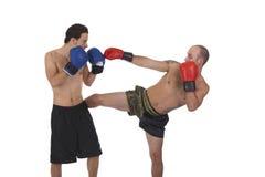 Kickboxers fighting Royalty Free Stock Image