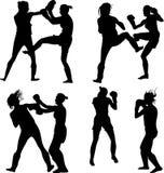 kickboxing женщина Бесплатная Иллюстрация