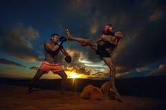 kickboxing Lizenzfreie Stockfotos