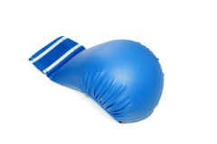 Kickboxing blue glove. Blue Kick boxing glove on white background Royalty Free Stock Image