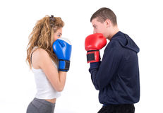 Kickboxing fight Royalty Free Stock Images