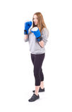 Kickboxing Girl Stock Images