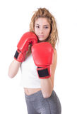Kickboxing Girl Royalty Free Stock Photo