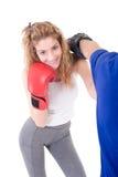 Kickboxing Girl Stock Image