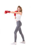 Kickboxing Girl Royalty Free Stock Photography