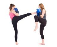 Kickboxing girls fight royalty free stock photos