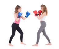 Kickboxing girls fight Stock Photo