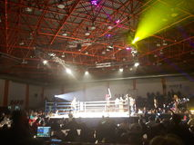 Kickboxing match. 20 november2016 -Bucharest , Romania- the event Ascension of Titans and the fight match with Andrei Costea Royalty Free Stock Photos