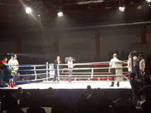Kickboxing match. 20 november2016-Bucharest , Romania- the event Ascension of Titans and the fight match with Andrei Costea Royalty Free Stock Photo
