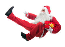Kickboxing Santa Claus Images libres de droits
