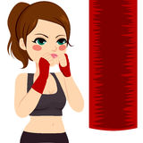 Kickboxing Woman Punching Royalty Free Stock Photo
