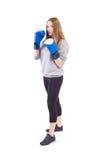 Kickboxingsmeisje Stock Afbeeldingen